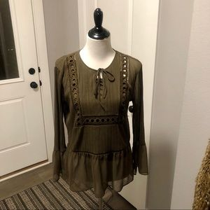 NWT Express Woman's Brown Top size M